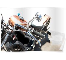 Custom Painted Gold Motorcycle Poster