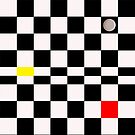 Mondrian Plays Draughts by ImageorArt