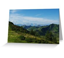 Mountain scenery near Portlahorn, Austria Greeting Card