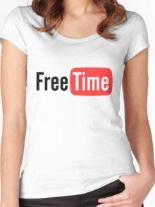 Free Time Women's Fitted Scoop T-Shirt