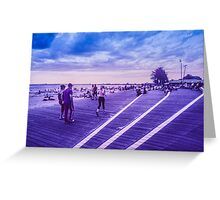 Infra red pedestrians Greeting Card