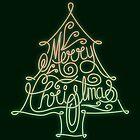 Merry Christmas Tree Neon by rhysjenkinsgd