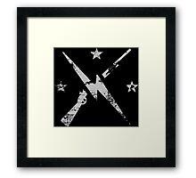 Fallout Minutemen Worn Framed Print