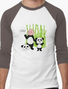 I'm not wanking off a Panda - Karl Pilkington T Shirt Men's Baseball ¾ T-Shirt