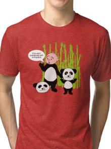 I'm not wanking off a Panda - Karl Pilkington T Shirt Tri-blend T-Shirt