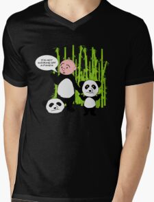 I'm not wanking off a Panda - Karl Pilkington T Shirt Mens V-Neck T-Shirt