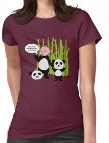 I'm not wanking off a Panda - Karl Pilkington T Shirt Womens Fitted T-Shirt