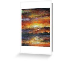 Impressionist Abstract Sunset Sunrise Ocean  Greeting Card