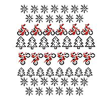 Motorbike Ugly Christmas Sweater Photographic Print