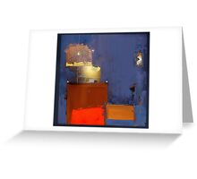 chairs. bright light Greeting Card