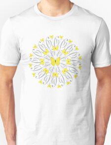 Butterfly Mandala/Yellow Unisex T-Shirt