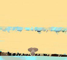 Tiny little elephant by CatchyLittleArt