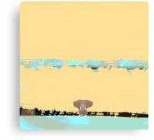 Tiny little elephant Canvas Print