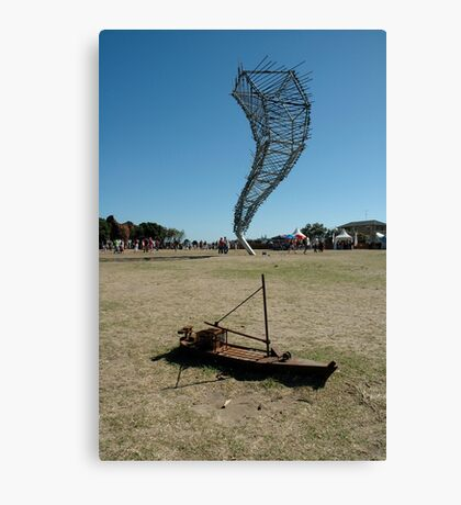 Sculpture By Sea, Stormy Weather, Australia 2006 Canvas Print