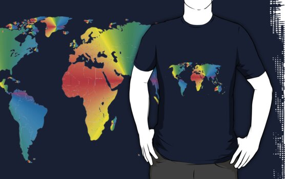 Map of the World by wlartdesigns