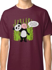 I will kick a Panda in the Bollocks - Karl Pilkington T Shirt Classic T-Shirt
