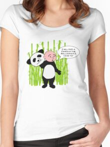 I will kick a Panda in the Bollocks - Karl Pilkington T Shirt Women's Fitted Scoop T-Shirt