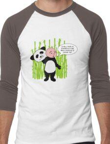I will kick a Panda in the Bollocks - Karl Pilkington T Shirt Men's Baseball ¾ T-Shirt