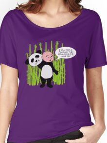 I will kick a Panda in the Bollocks - Karl Pilkington T Shirt Women's Relaxed Fit T-Shirt
