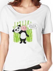 I will kick a Panda in the Bollocks - Karl Pilkington T Shirt Women's Relaxed Fit T-Shirt