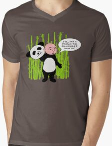 I will kick a Panda in the Bollocks - Karl Pilkington T Shirt Mens V-Neck T-Shirt