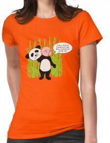 I will kick a Panda in the Bollocks - Karl Pilkington T Shirt Womens Fitted T-Shirt