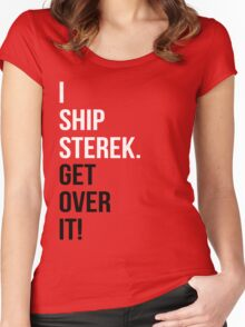 I Ship Sterek. Get Over It! Women's Fitted Scoop T-Shirt