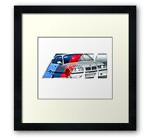 Bmw E36 M3 overlay Framed Print
