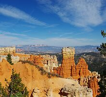 Bryce towers and walls with a view, Utah by Claudio Del Luongo