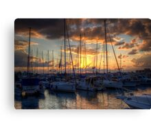 sunset in Jaffa Canvas Print