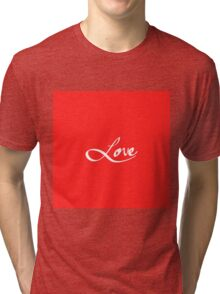 "Simple Hand Drawn ""Love"" Typography Tri-blend T-Shirt"