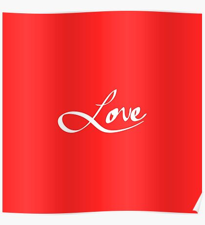 """Simple Hand Drawn """"Love"""" Typography Poster"""