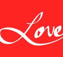 "Simple Hand Drawn ""Love"" Typography Sticker"
