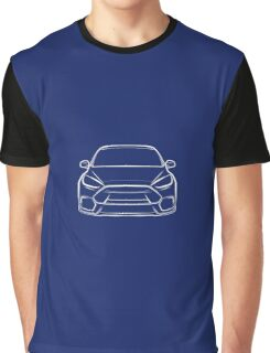 2016 Ford Focus RS White Graphic T-Shirt