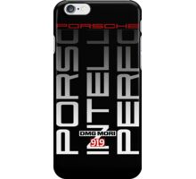 Porsche 919 Hybrid - White Text iPhone Case/Skin
