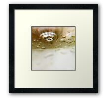 Water on Metals Framed Print
