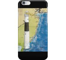 Absecon Lighthouse NJ Nautical Chart Cathy Peek iPhone Case/Skin