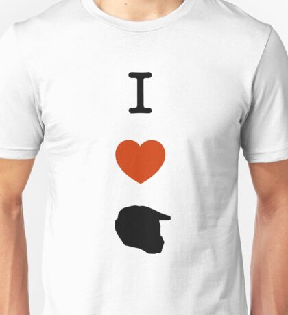 Halo - I Love Master Chief Helmet Unisex T-Shirt