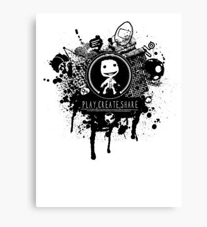 Play, Create, Share Canvas Print