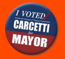 """I Voted Carcetti for Mayor (pin) - """"The Wire"""" Kids Clothes"""