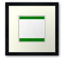 RUN THC Framed Print
