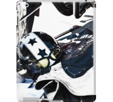 Motorcycle Helmet with Stars and Goggles iPad Case/Skin