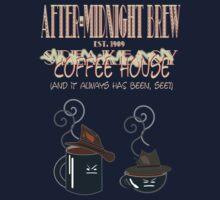 After Midnight Brew Coffee Shop Speakeasy Kids Tee