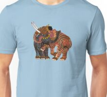 Couple of Elephants - Sky blue background Unisex T-Shirt
