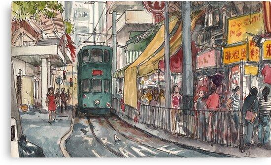 Tram terminus by Adolfo Arranz