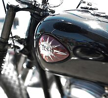 Vintage BSA Motorcycle by laurenelisabeth