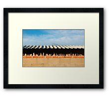 Jagged Wall Framed Print