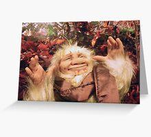 Fluffy the troll! Greeting Card