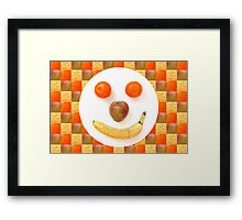 Fruit Face Framed Print