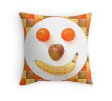 Fruit Face Throw Pillow
